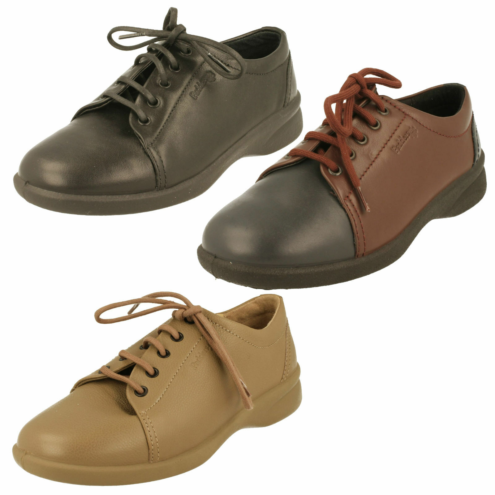 Ladies Padders Casual Lace Up shoes Wide Fit - Refresh