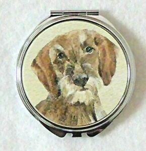 DACHSHUND-WIRE-HAIRED-DOG-LADIES-COMPACT-MIRROR-DESIGN-SANDRA-COEN-ARTIST-PRINT