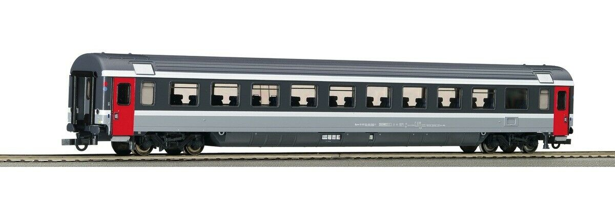 Roco 44770 (12) EuroCity Second Class Livery EC bigrey Symbols Red and bluee