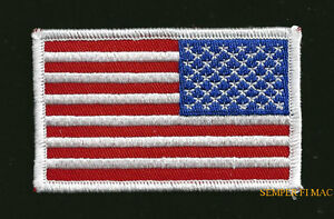 USA FLAG REVERSE HAT PATCH TOPGUN RIGHT ARM PIN UP US ARMY MARINE ... 53ca898fcae