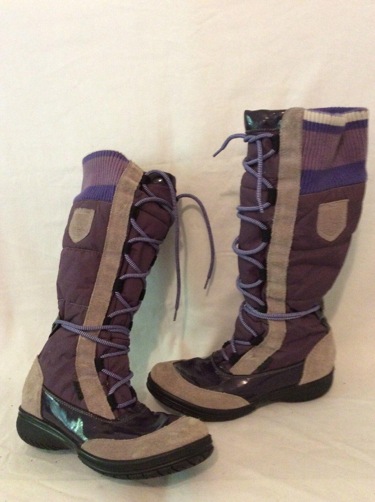 Aldo Purple Knee High Boots Size 37