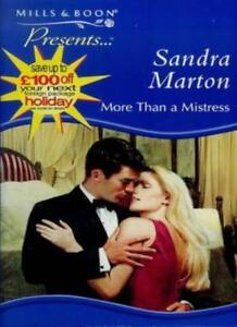 More Than a Mistress By Sandra Marton