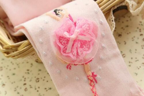 Baby Child Girls Lace Flower Soft Cotton Long Socks Stocking Pantyhose Tights T3