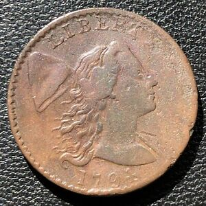 1794-Large-Cent-Liberty-Cap-Flowing-Hair-One-Cent-Higher-Grade-Rare-15414