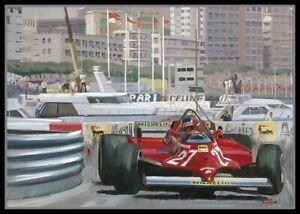 Painting-1981-Monaco-Grand-Prix-by-Toon-Nagtegaal