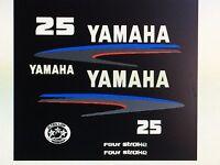 Yamaha Outboard Motor Decal Kit 25 Hp 4 Stroke Kit - Marine Grade Decals