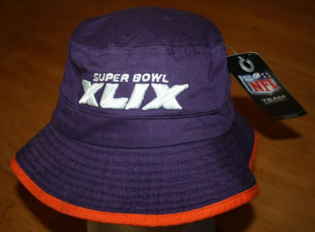 NWT BUCKET HAT CAP YOUTH SUPER BOWL XLIX ARIZONA PURPLE TEAM APPAREL  PATRIOTS 134c242f101