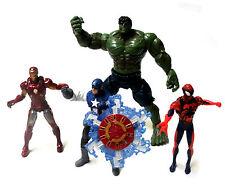"Marvel Universe scale 3.75"" figures set lot, Spiderman, Ironman Hulk +"
