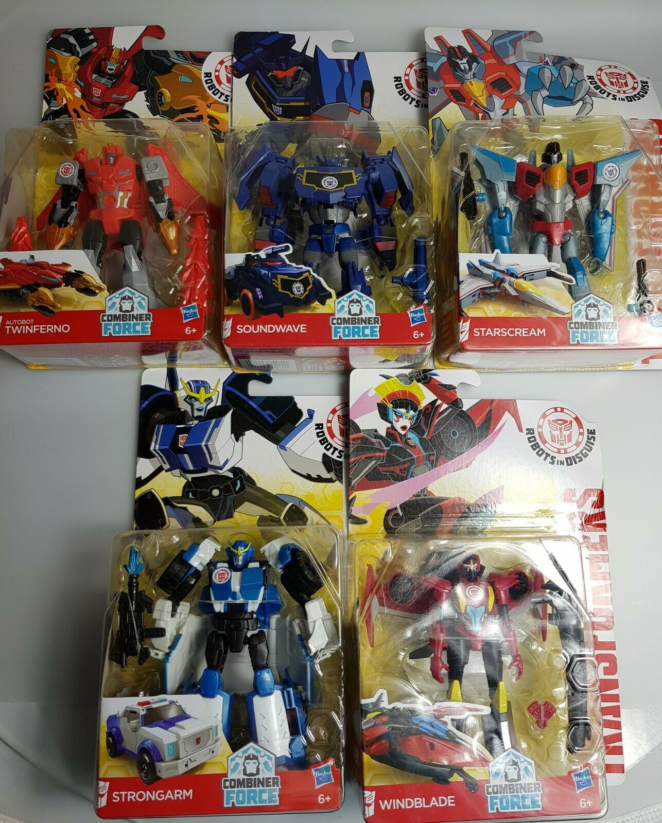 Transformers Combinador fuerza WINDBLADE Soundwave Strongarm Starscream twinferno