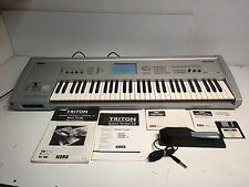 Korg Triton Musicstation / Sampler Keyboard Synthesizer W/ Korg Pedal Manuals
