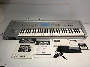 korg triton musicstation sampler keyboard synthesizer w korg rh ebay com Korg Tuners and Metronomes Korg Tuners and Metronomes