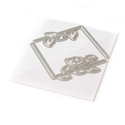 Rectangular Bookmark Frame Flower Alphabet Cutting dies Metal Stencil Scrapbooki