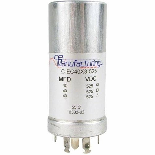 Can Capacitor, Multi-section, 40/40/40uF 525VDC, CE Manufacturing