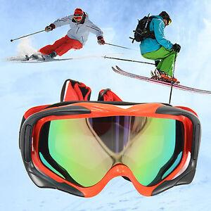 RED  tinted motocross Ski Snow goggles anti-fog UV protection ATV dirt bike