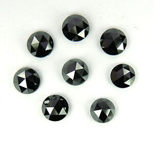 Natural-Loose-Diamond-Rose-Round-Cut-Black-I3-Clarity-3-1-to-3-3MM-1-0ct-Lot-P11