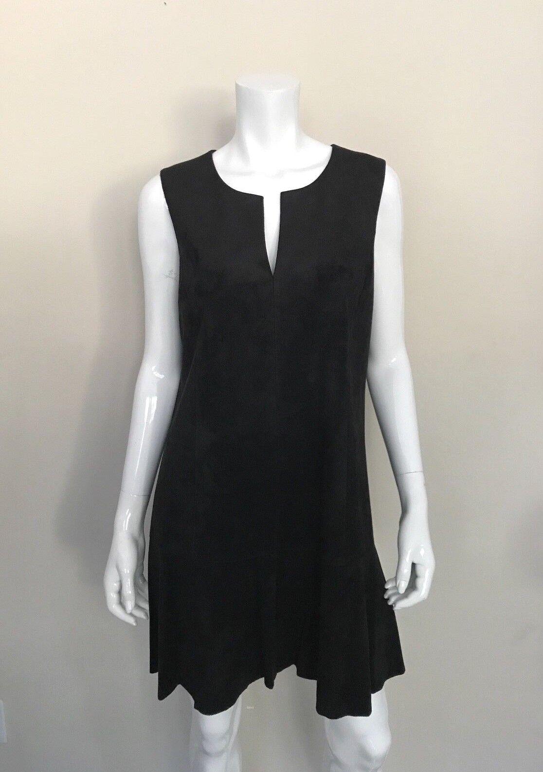 BCBGMAXAZRIA NWT Medium schwarz Faux Suede Shift Adelene Dress Sleeveless  NEW
