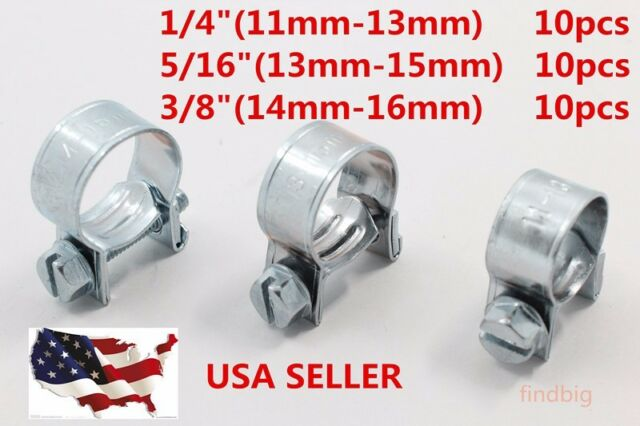 """10PCS NEW 5//16/""""FUEL INJECTION HOSE CLAMP AUTO Fuel clamps"""