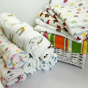 Newborn Infants Muslin Swaddle Blanket Cotton Baby Sleeping Swaddle Wrap Bedding