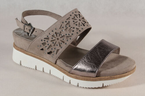 Marco Tozzi Damen Sandale Sandalen Sandalette Sandaletten taupe 28717 NEU!!