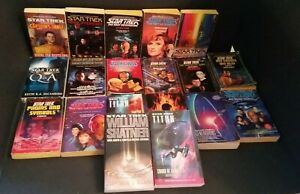 Star Trek Paperback Book Lot of 19 Books Science Fiction William Shatner