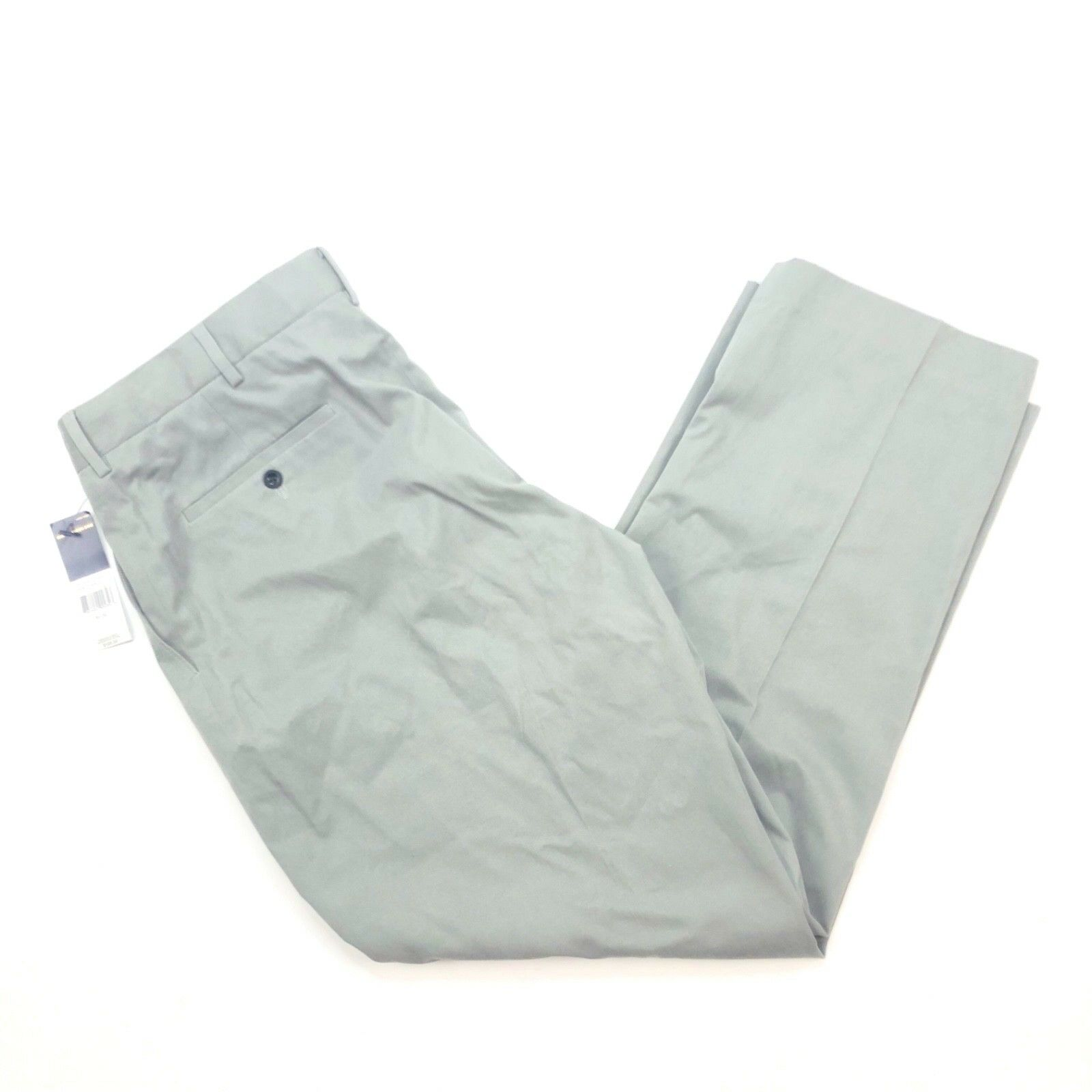 Polo Ralph Lauren Mens Flat Front Dress Pants Grey Size 36x30 NWT Silk Cotton