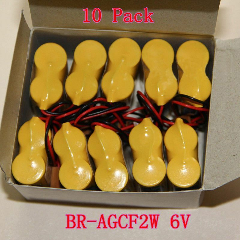 10Pcs Br-agcf 2W 6V PLC Batería Para Panasonic Fanuc A98L-0031-0011 con Enchufe mejor