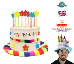 Image Is Loading HAPPY BIRTHDAY HAT Cake Hat Candle Adult