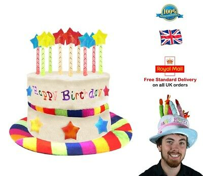 Peachy Happy Birthday Hat Cake Hat Candle Hat Adult Gay Pride Fancy Dress Funny Birthday Cards Online Overcheapnameinfo