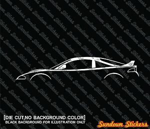 Image is loading 2X-Car-silhouette-stickers-for-Mitsubishi-Eclipse-GS-