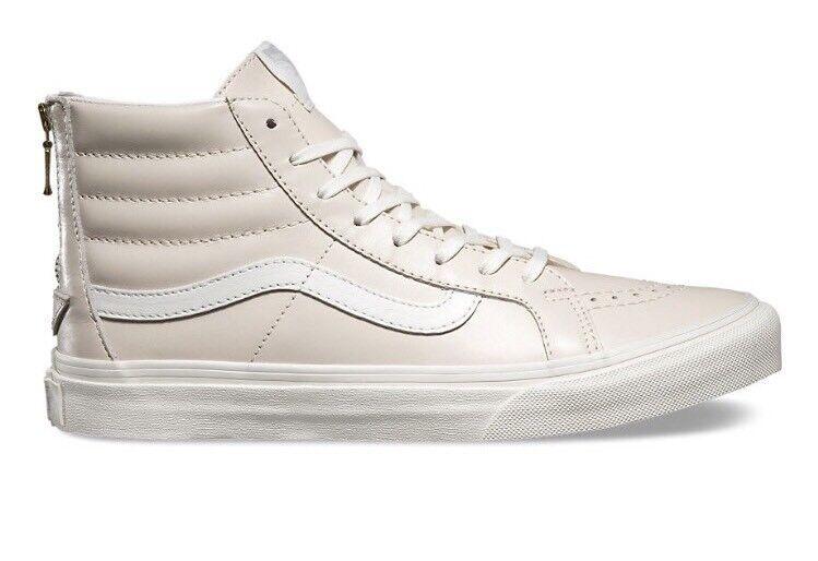 Vans hommes 8 femmes 9.5 Sk8 Hi Slim Zip Whispering rose High Top Chaussures Sneakers