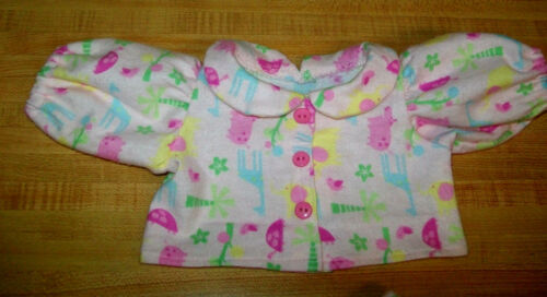 "GIRLS PINK ZOO ANIMAL FLANNEL PAJAMAS PJS for 16-18/"" CPK Cabbage Patch Kids"