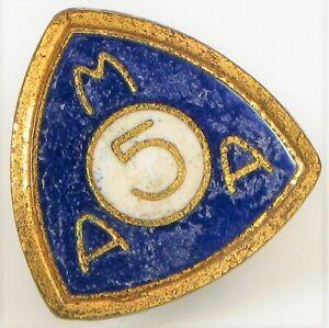 Vintage-Dorado-Ama-American-Moto-Asociacion-Membership-Boton-de-Pines