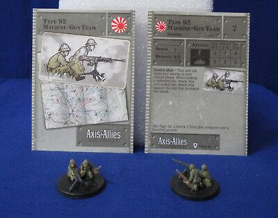 Base Set ~ TYPE 92 MACHINE-GUN TEAM #47 Axis/&Allies miniature