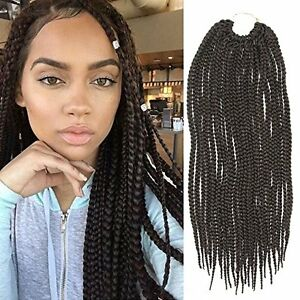Image Is Loading 6 PACK 18inch Synthetic Hair Crochet Braids Medium