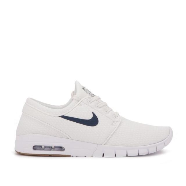 4a9f9def720fe3 Nike SB Mens Stefan Janoski Max Knit White   Blue Shoes White blue 9 ...