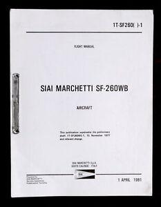 Aeronautica-Flight-Manual-SIAI-Marchetti-SF-260WB-Aircraft-ed-1981