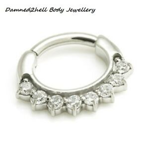 SURGICAL-STEEL-SEPTUM-CLICKER-RING-WITH-8-SMALL-CRYSTALS-1-2mm-amp-1-6mm