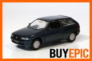 Gama-1-43-Opel-Astra-F-Fliessheck-3-tuerer-blau-blue-Modellauto-NEU-amp-OVP