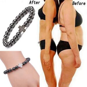 Magnetic-Healthcare-Hematite-Stone-Bead-Slimming-Bracelet-Bangle-Be-FBB