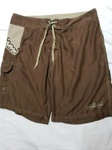 be913a662527d Image is loading Budweiser-Board-Shorts-Swim-Trunk-ColorBrown-Anheuser-Busch -