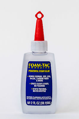 Beacon Foam Tac Adhesive Powerful Foam Glue 2 fl oz R C Planes Clear BCNFT2