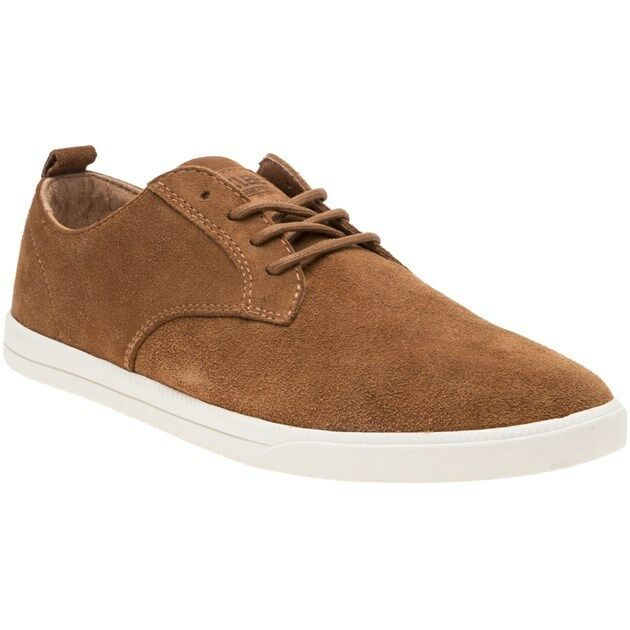 New MENS CLAE TAN ELLINGTON SUEDE Sneakers PLIMSOLLS