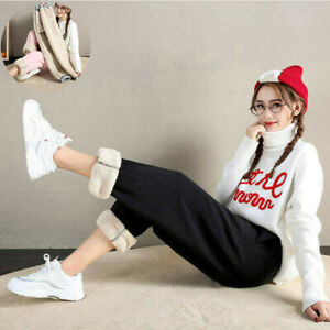 Breathable-For-Harem-Women-Winter-Outdoor-Sport-Fleece-Thicken-Pants-Lined