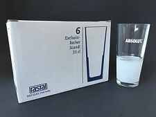 6x RASTAL ABSOLUT Vodka Glas Gläser NEU OVP Longdrink Cocktail