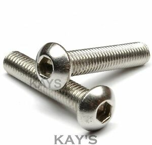 M6-Stainless-Steel-Button-Head-Bolts-Nuts-amp-Washers