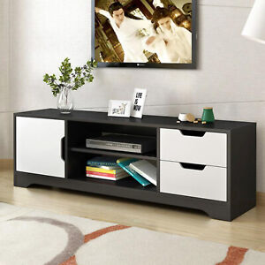 Prime Details About White Modern Tv Stand Home Bench Furniture Bedroom And Living Room Black White Download Free Architecture Designs Scobabritishbridgeorg