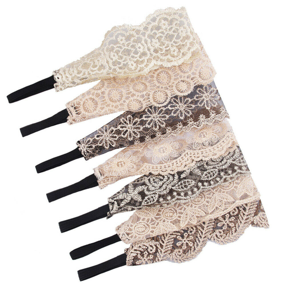 Lace Headband Decorative Stretch Exquisite Hair Band for Girls Women