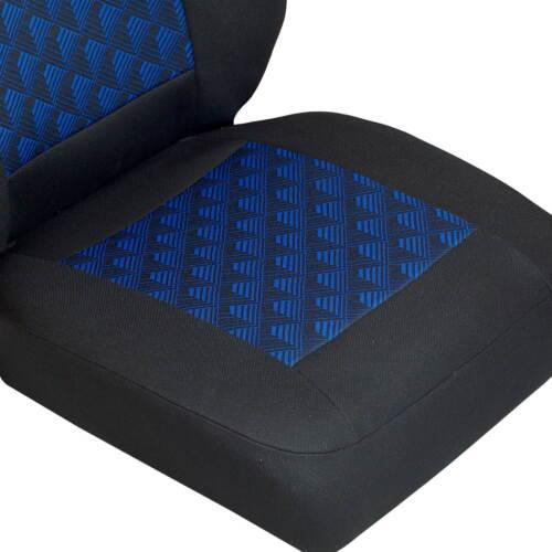 Negro Azul Efecto 3D para Fiat Ducato Cubierta de Asiento Coche Conductor