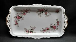 Royal-Albert-England-Bone-China-Lavender-Rose-Large-Rectangular-Sandwich-Tray