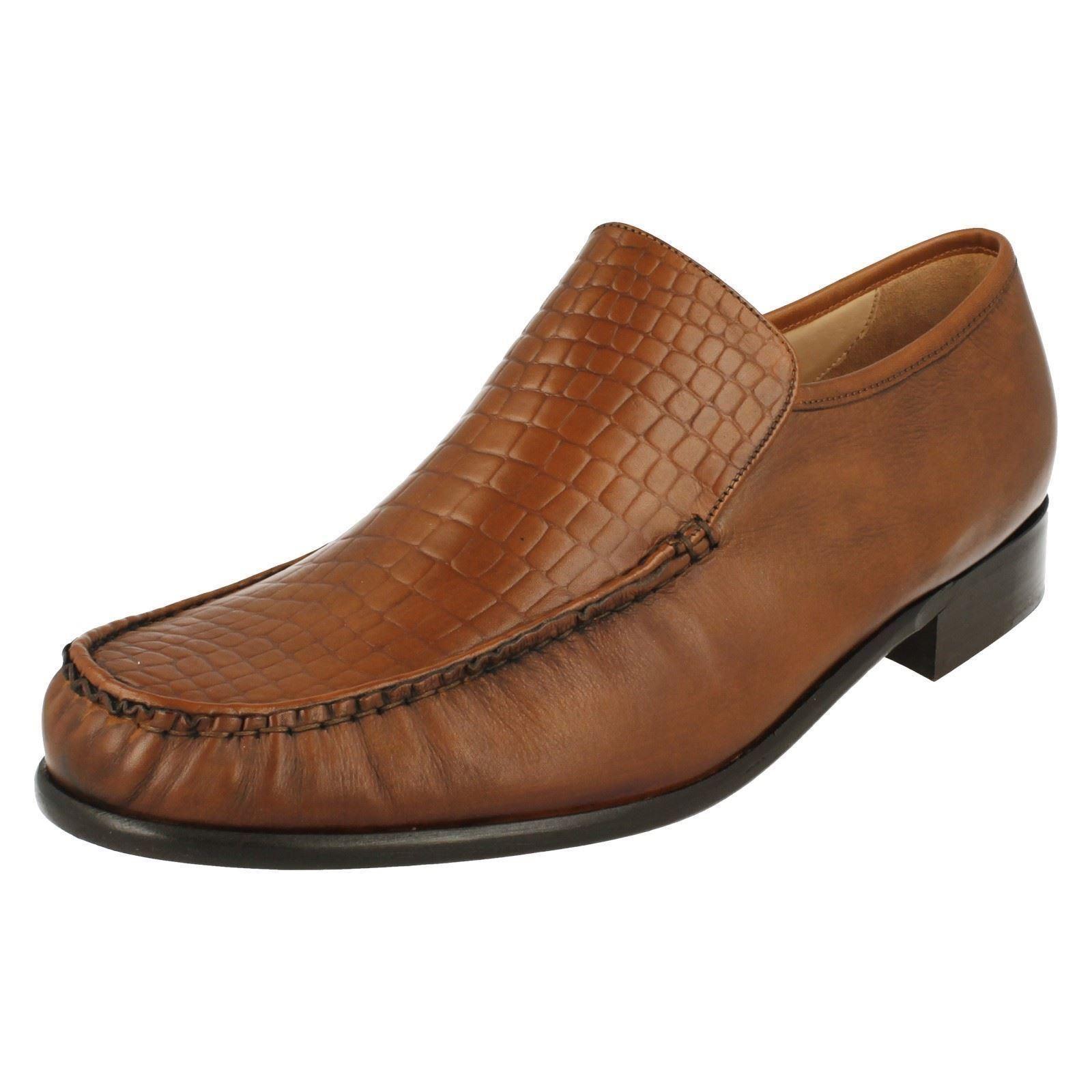 Mens Grenson FeatherMaster MONTANA brown leather slipon